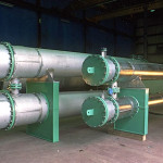 Titanium shell and tube heat exchangers